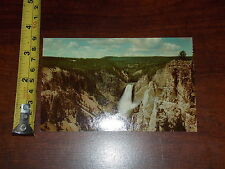 Postcard Vintage Grand Canyon Of The Yellowstone Lower Falls Moran Point Park