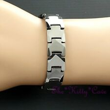 Magnetic Power Tungsten Arthritis Sports Health Mens Ladies Rhodium PLT Bracelet