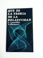 Monografia QUE ES LA TEORIA DE LA RELATIVIDAD L. Landau y Y. Rumer