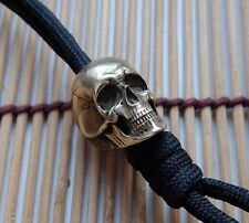 "skull bead - Keychain ""anatomical skull""  from brass. for knives. paracord."