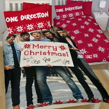 One Direction Merry Christmas Single Duvet Cover Snowflake 1D Farewell Gift