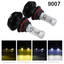 2pcs CREE 9007 980W LED Headlight Bulb Kit 3000K/6500K Dual Color Light Hi/Low