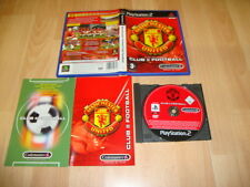 MANCHESTER UNITED CLUB FOOTBALL DE CODEMASTERS PARA LA SONY PS2 USADO COMPLETO