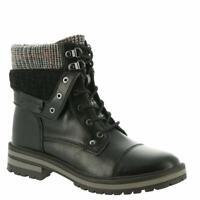 Tommy Hilfiger Womens Faux Fur Faux Fur Almond Toe Ankle, Black, Size 6.0 RomY