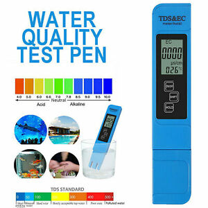 3 In1 Portable Handheld Digital LCD TDS EC Water Purity PPM Tester Pen