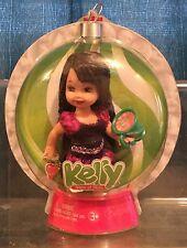 Buone feste Kelly 5 in (ca. 12.70 cm) BAMBOLA/ALBERO NATALE ADDOBBO mai tolto dalla scatola Mattel BRUNA
