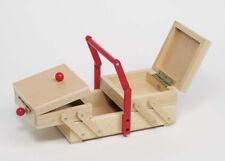 NÄHKASTEN Kinder Holz Nähkästchen Aufbewahrung Nadel Faden Nähkiste Nähen °NEU°