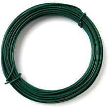 Green Plastic Coated Garden Wire, 2.0 mm Diameter x 20 Metre Fencing Trellis