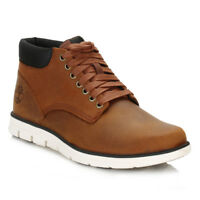 Timberland Mens Chukka Boots Red Brown Bradstreet Leather Lace Up Casual CA13EE
