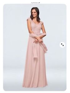 Womens Mother of the Bride Bridesmaid Dress Dusty Rose - Amethyst Size 8