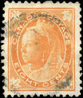 Used Canada 1899 8c F-VF Scott #72 Queen Victoria Leaf Issue Stamp