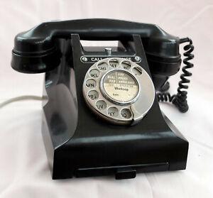 BLACK BAKELITE TELEPHONE CONVERTED