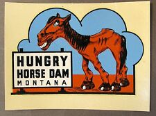 Lindgren HUNGRY HORSE DAM MT water slide travel decal luggage car rat rod! MIP