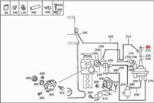 Genuine Mercedes W124 300E 300SE Set Of 2 Vacuum Hose Connector 1162760929