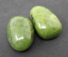 "2 Nephrite Jade Tumbled Stones: 20 mm (3/4"") Crystal Healing Reiki Tumble Stone"