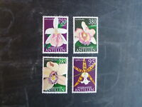 2002 NETHERLANDS ANTILLIES ORCHIDS SET 4 MINT STAMPS MNH