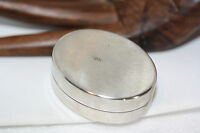 Antique Victorian Vintage Solid 800 Silver Oval Ring Jewelry Trinket Snuff Box