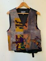 SAFARI men's art retro boho hippy 90s hipster unique vest size M