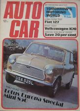 Autocar magazine 19/4/1973 featuring Mini road test, Lotus Europa, Allard, VW