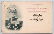 Postcard German Emperor Wilhelm I Birth Centennial Commemoration 1897 #2 K21