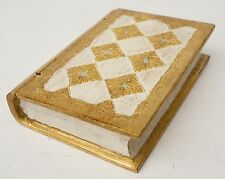 Vintage Italian Florentine Toleware Wood Jewelry TRINKET BOOK BOX