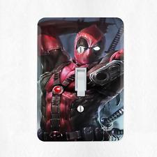 Deadpool Marvel Light Switch Cover Plate Duplex Outlet Comic Book Superhero New