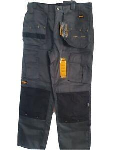 DeWalt Pro Tradesman ..grey and black.. work  trousers.  guaranteed tough