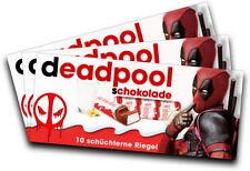 3x Aufkleber DEADPOOL (Motiv 2) für Kinderschokolade (Geschenk, Gadget)