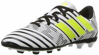 adidas Boys' Nemeziz 17.4 FxG J Soccer Shoe White/Solar Yellow/Black 2 Medium