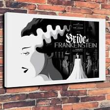 """La moglie di Frankenstein 1935 Scatola Tela A1 .30 """"X 20"""" di profondità 30mm TELAIO TOM Whalen stampa"""