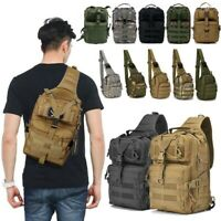 Tactical Messenger Bag Military Sling Shoulder Pack Backpack Hiking Camping