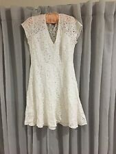 White Lace Flared Sun Dress