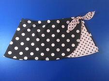 Breaking Waves Girls Swim Suit Coverup Black Pink Polka Dot Skirt Size 12