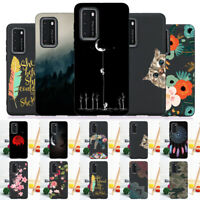 For Huawei P Smart Z P40 P30 P20 P9 P8 Lite Case Silicone Painted Slim TPU Cover