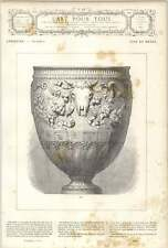 1882 Fine Silver Vase Without Lid From Plaster Cast Roman Antiquity