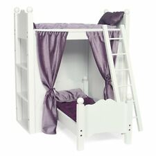 Fits American Girl Doll Loft Bunk Bed Shelves Quilted Bedding Mattresses Ladder