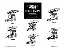 THUNDER TIGER  Model Engine Instruction Sheets ~ Parts List & Numbers