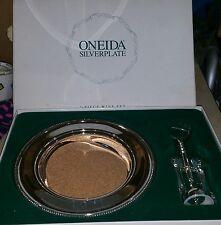 Oneida silverplate 2 piece wine set
