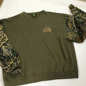 Cabelas Seclusion 3D Mens 3XL Camo Camouflage Sleeves Sweatshirt