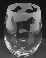 More details for cockerpoo frieze boxed 36cl crystal stemless wine / water glass