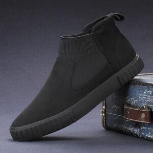 Herren Wildleder Herbst Winter Freizeit Schuhe Turnschuhe Laufschuhe Sneaker S21