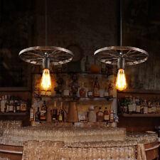 Retro Ceiling Lamp Kitchen Brown LED Chandelier Lighting Shop Bar Pendant Lights