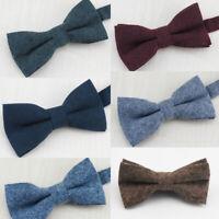 Men Formal Wedding Groom Bowtie Tuxedo Party Necktie Bow Tie Adjustable Solid