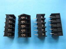 50 pcs Black 5 pin 6.35mm Screw Terminal Block Connector Barrier Type DC29B