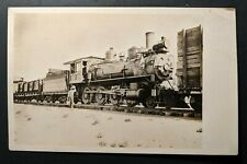 Mint Vintage Steam Train Engine With Cars Railroad Real Picture Postcard RPPC