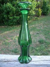 Avon Emerald Green Bud Vase Topaze Cologne Empty Bottle Vintage 70s 8.75 in Tall