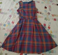 NWOT Vintage Inspired Modcloth Retro A Line Career Dress Linen and Cotton sz 00