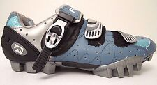 Forte Cycling Bicycle Shoes Mens Size 41 (US 8) MTB SPD Mountain Bike Blue NICE!