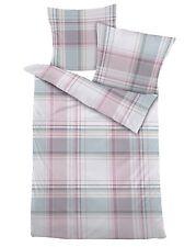 4 tlg. Dormisette Mako-Satin Bettwäsche 155x220 cm puder grün rose Punkte #2136