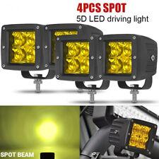 4x 3inch LED Work Light Offroad Pod Lights Amber Driving Spot Fog Lamp Truck ATV